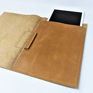 leather tablet cover - padfolio tablet case